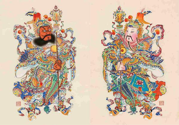 南桃北柳,关于古版年画之美